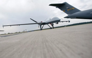 A US Air Force MQ-9 Reaper drone in Germany. (Reuters / Hannibal Hanschke)