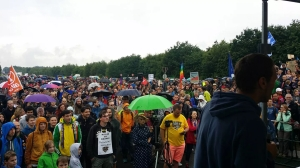 June 11, 2016 protest at Ramstein Air Base. (Courtesy: Activism.org)